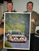 Originalbild zum Rossfeldrennen mit Autogramm von Walter Röhrl erhältlich