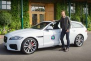 Andy Murray enthüllt in Wimbledon den neuen Jaguar XF Sportbrake