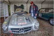 Gipfelstürmer Start Nr. 111, Georg Distler, Mercedes 300 SLS.